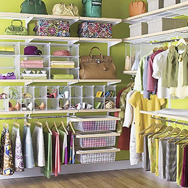 Как эргономично хранить вещи в шкафу