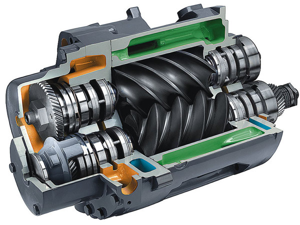 Как работают и применяются винтовые компрессоры