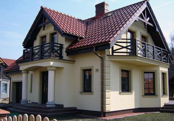 Оформление дома фасадной лепниной